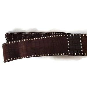 Accessories - Boho Vintage Leather Studded Belt
